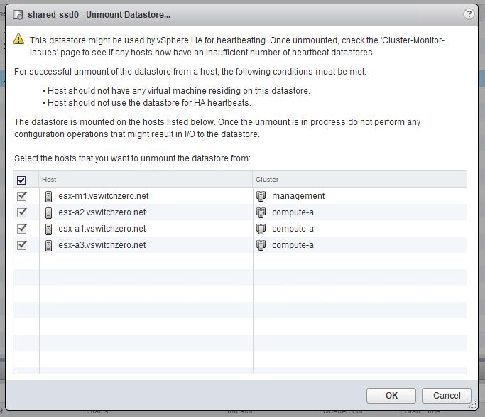Properly Removing a LUN/Datastore in vSphere – vswitchzero