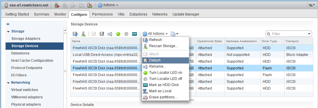 Properly Removing a LUN/Datastore in vSphere – vswitchzero